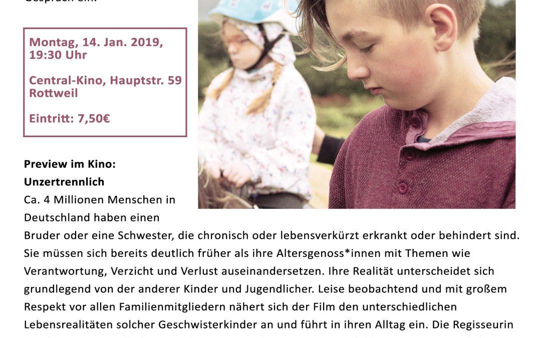 """Kinderhospiztag 2019 – Preview im Kino: """"Unzertrennlich"""""""